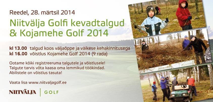 Kojamehe golf Niitväljal 28.03